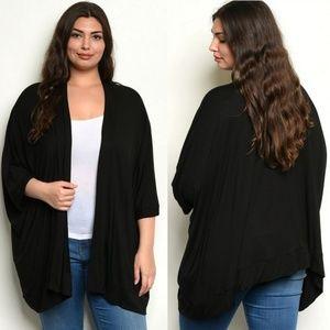 5⭐ Gilli black open front kimono style cardigan
